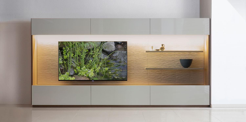 テレビボード 壁面 収納 セミオーダー イメージ